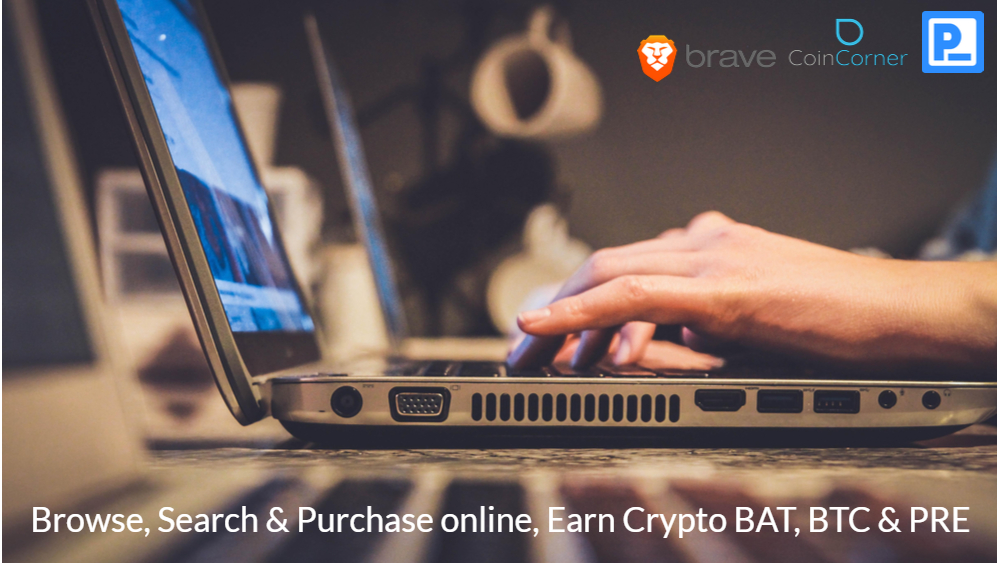 Earn Crypto BAT BTC PRE Browser Brave Presearch